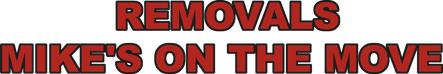 Mikes On The Move Removals Logo
